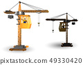 Construction crane operated by the operator 49330420