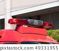 消防车红色转动的光 49331955