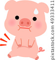Pig character in need of fatness 49333411