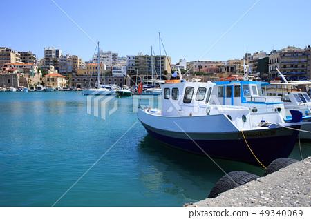 Heraklion port and venetian harbour in island of Crete, Greece 49340069