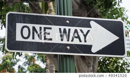 American one way sign 49341520