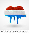 vector isolated Flag of Luxembourg painted colors 49345847
