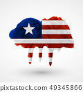vector isolated Flag of Liberia painted colors 49345866