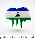 vector isolated Flag of Lesotho painted colors 49345868