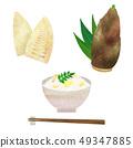 Bamboo shoot rice 49347885