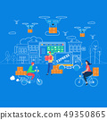 Logistics, Delivery Home and Office Infographics. 49350865