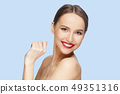 Teeth and skin care. Beautiful young woman 49351316