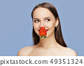 Beautiful happy girl with clean and healthy skin 49351324