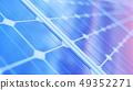 3D illustration solar power generation technology. Alternative energy. Solar battery panel modules 49352271