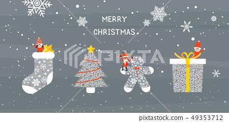 冬天聖誕節例證 49353712