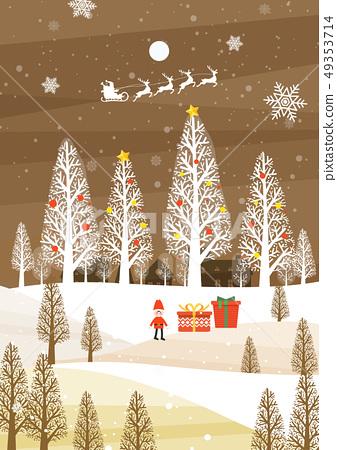 冬天聖誕節例證 49353714