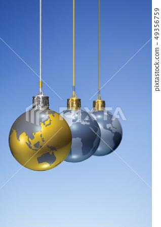 泡泡,地球儀,聖誕節,CG 49356759