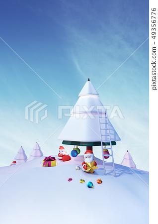 聖誕老人,聖誕樹,聖誕節,CG 49356776