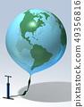 지구,풍선,펌프,CG 49356816