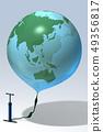지구,풍선,펌프,CG 49356817