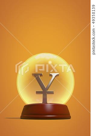Yen, crystal ball 49358139