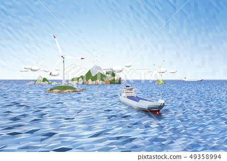 渦輪機,光伏船舶,島嶼 49358994