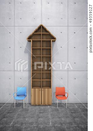 椅子,書架,箭頭 49359127