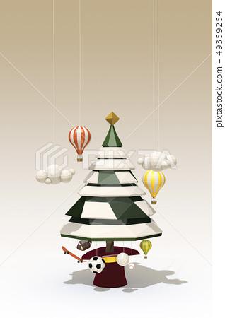 聖誕樹,熱氣球,滑板,橄欖球球,齊射球,足球,棒球球 49359254