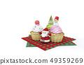 杯形蛋糕,聖誕樹,雪人,聖誕老人 49359269