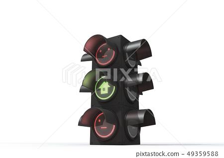 交通燈,無表情,住房 49359588