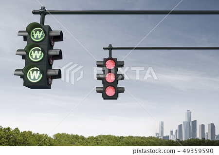 Traffic Light, Wonhwa, Seoul International Finance Center, Conrad Hotel, LG Twin Tower, FKI Hall, Securities Co., Yeouido, Yeongdeungpo-gu, Seoul 49359590