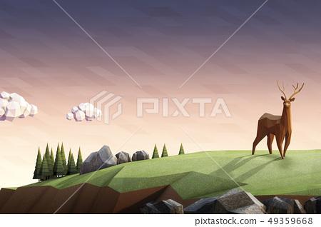 鹿,草地 49359668