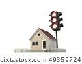 交通燈,房屋 49359724