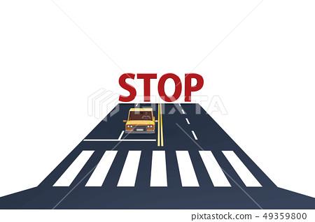 汽車,人行橫道,道路,停止,字母表,大寫 49359800