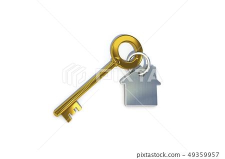 金鑰匙,鑰匙圈,房屋 49359957