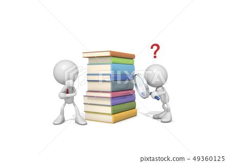ICONY,비즈니스,물음표,돋보기,책 49360125