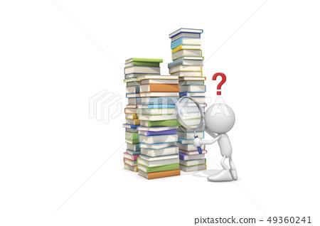 ICONY,책,물음표,돋보기 49360241