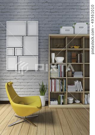 室內,書櫃,相框,書,地板 49361010