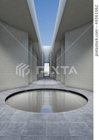 3D,CG,綜合,例證,建築學,建築學,空間,戶內,大廳,牆壁,池塘,水,前景,風景 49361062