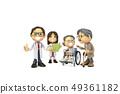 삼차원,CG,만화,캐릭터,ICONY,일러스트,병원,의료,의사,남자,여자,환자,노인,휠체어,전신,다수 49361182