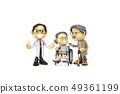 삼차원,CG,만화,캐릭터,ICONY,일러스트,병원,의료,의사,남자,여자,환자,노인,휠체어,전신 49361199