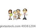 삼차원,CG,만화,캐릭터,ICONY,일러스트,병원,의료,의사,남자,여자,환자,노인,휠체어,전신,다수 49361204