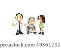 삼차원,CG,만화,캐릭터,ICONY,일러스트,병원,의료,의사,남자,여자,환자,노인,휠체어,전신 49361231