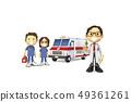 3D,CG,卡通,字符,ICONY,图,医院,医疗,医生,护士,男子,女子,救护车,紧急服务,电报 49361261