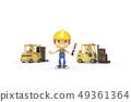 3D,CG,動畫片,字符,ICONY,例證,產業,鏟車,盔甲,安全,箱子,運輸,標誌 49361364