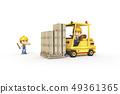 3D,CG,動畫片,字符,ICONY,例證,產業,鏟車,盔甲,安全,箱子,運輸,標誌 49361365