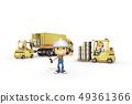 3D,CG,動畫片,字符,ICONY,例證,產業,鏟車,卡車,盔甲,安全,箱子,運輸,標誌 49361366