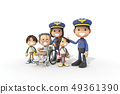 3D,CG,卡通,字符,ICONY,圖,職業,警察,男子,輪椅,病人,老人,女子,兒童,安全,服務,服務 49361390