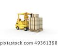 3D,CG,動畫片,字符,ICONY,例證,產業,鏟車,盔甲,安全,箱子,運輸,標誌 49361398