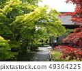 Kyoto Yamashinan Shuji Temple with fresh greenery 49364225