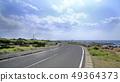 從Boso花線看見的天空,路和海 49364373