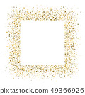 Glittering frame from shining golden dust isolated 49366926