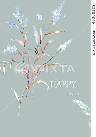 色彩豐富的水彩花卉 49368385