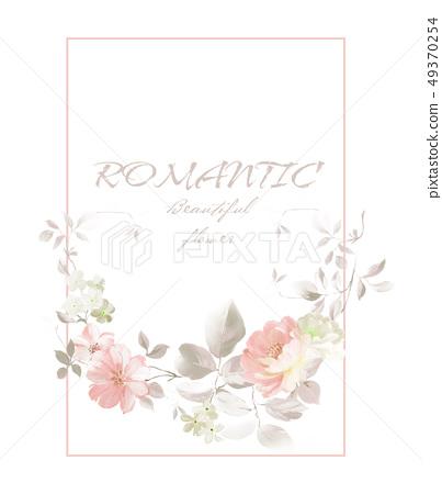 色彩豐富的花卉,優雅玫瑰素材 49370254