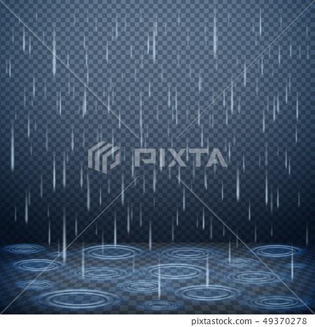 Falling Rain Realistic Background 49370278
